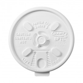 """PlastikDeckel """"Lift n'Lock"""" PS Weiß Ø8,1cm (100 Stück)"""