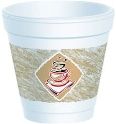 """Styroporbecher """"Café"""" 4Oz/118 ml (50 Stück)"""