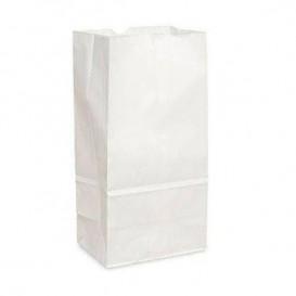 Papiertüten ohne Henkel Kraft-weisss 12+8x24cm (25 Stück)