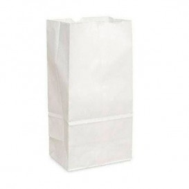 Papiertüten ohne Henkel Kraft-weiss 12+8x24cm (1000 Stück)
