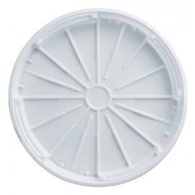 Abdeckung PS für Pizza weiß 320mm (100 Stück)