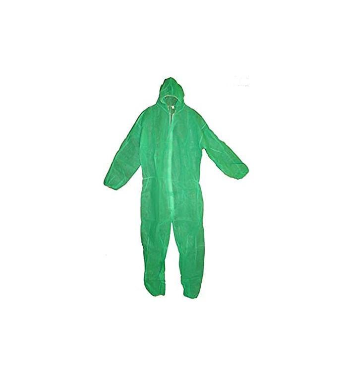 Schutzanzug PP mit Kapuze Grösse XXL Grün (50 Stück)