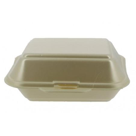 Verpackung Lunchbox Styropor Champagner 185x155x70mm (125 Einh.)