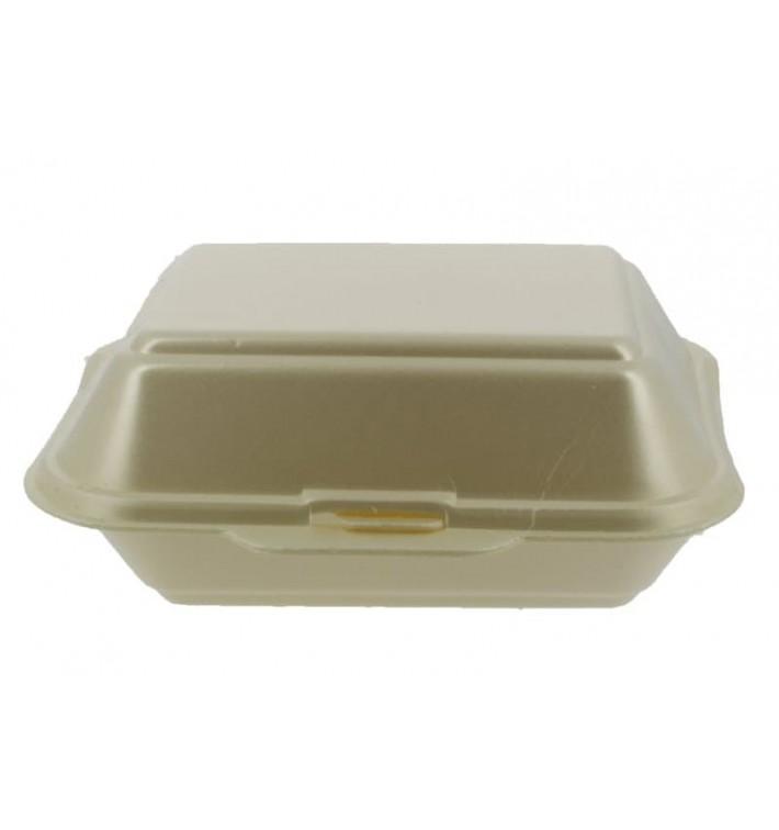 Verpackung Lunchbox Styropor Champagner 185x155x70mm (500 Stück)