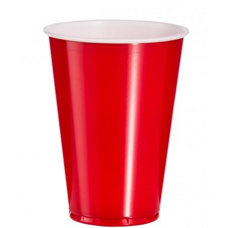 Plastikbecher Rot 10 Oz/300ml (50 Stück)