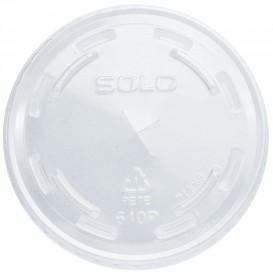 Deckel mit Loch für Becher PET Solo Ultra Clear 9Oz groß et 10Oz  (100 Stück)