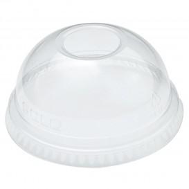 Domdeckel mit Loch PET Glasklar Ø7,8cm (100 Stück)