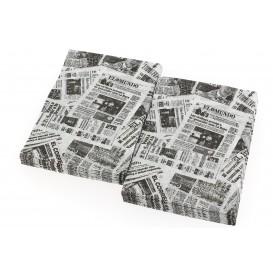 "Spenderservietten Papier Miniservis ""Zeitung"" 17x17cm (200 Stück)"