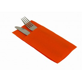 Bestecktaschen Airlaid Orange 40x40cm (30 Stück)