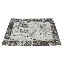 """Tischsets Papier 30x40cm """"Press"""" Schwarz 50g (500 Stück)"""