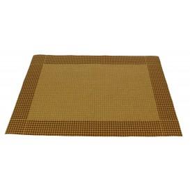 """Tischsets Papier 30x40cm Kraft """"Hahnentrittmuster"""" 50g (2500 Stück)"""