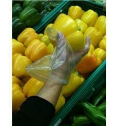 Handschuhe aus Polyethylen Grad Transparent (100 Stück)