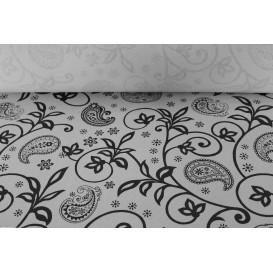 """Papiertischdecke Rolle """"Kaschmir"""" Weiß 1,2x100m 37g (6 Stück)"""