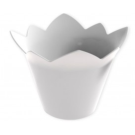 """Plastikschüssel """"Wasserlilie"""" weiß 70 ml (500 Stück)"""
