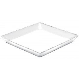 "Plastiktablett ""Medium""weiß 13x13 cm (12 Stück)"