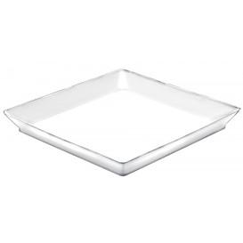 "Plastiktablett ""Medium""weiß 13x13 cm (192 Stück)"