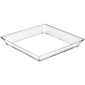 "Plastiktablett ""Medium""Transparent 13x13 cm (12 Stück)"