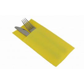 Bestecktaschen Gelb 40x40cm (30 Stück)