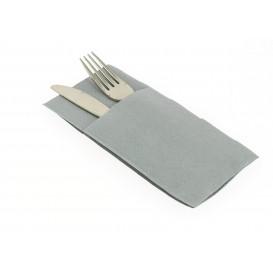 Bestecktaschen Grau 40x40cm (30 Stück)