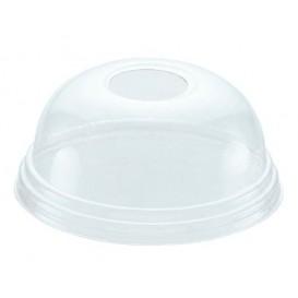 Domdeckel mit Loch für Becher 215ml und 295ml Ø8,1cm (100 Stück)