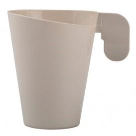 Plastiktasse Design Creme 72ml (12 Stück)
