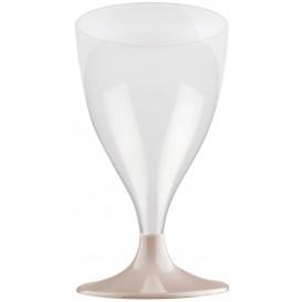Glass aus Plastik für Wein Beige Fuß 200ml (200 Stück)