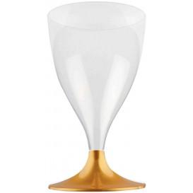 Glass aus Plastik für Wein Gold Fuß 200ml (200 Stück)