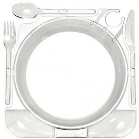 Caterplate Transparent Teller und Besteck (12 Stück)