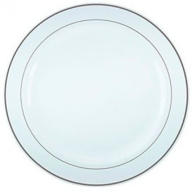Plato Plastico Rigido Transparente Cristal de 14cm (108 Uds)
