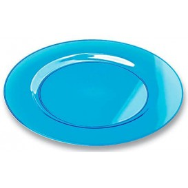 Plastikteller rund extra Stark türkis 23cm (90 Stück)
