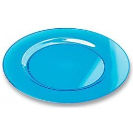 Plastikteller rund extra Stark türkis 26cm (90 Stück)