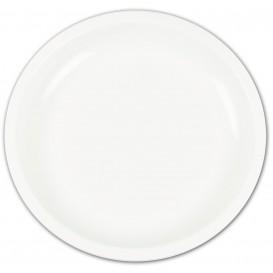 Plastikteller Rund Weiß Ø235mm (400 Stück)