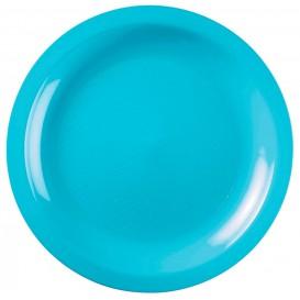 Plastikteller Flach Turkis Round PP Ø220mm (600 Stück)