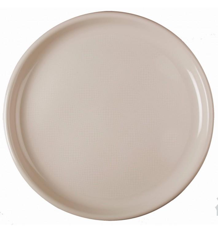 Plastikteller Rund für Pizza Beige Round PP Ø350mm (144 Stück)