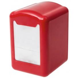 Serviettenspender aus Plastik Rot Miniservis 17x17 (1 Stück)