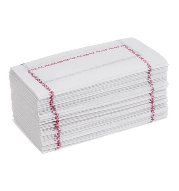 Papierservietten mit Zickzackfalz 14x14 blau (25.000 Stück)