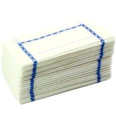 """Papierservietten """"ZigZag"""" 14x14 blau (25.000 Stück)"""