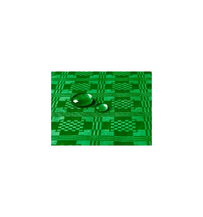 Tischdecke wasserdicht dunkelgrün 1,2x5 Meterware (10 Einh.)