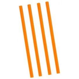 Trinkhalme einzeln verpackt orange Ø8mm 22cm (500 Stück)