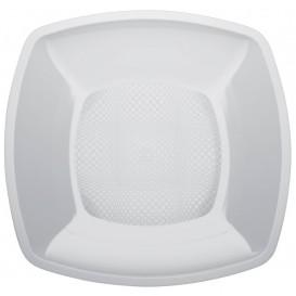 Plastikteller Glatt Weiß 180mm (25 Stück)