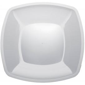 Plastikteller Flach Weiß PS 300mm (12  Stück)