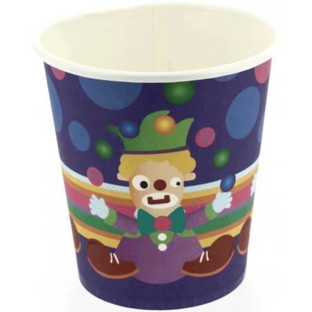 Kartonbecher Design Clown 200ml (500 Stück)