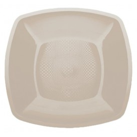 Plastikteller Flach Beige 180mm (150 Stück)
