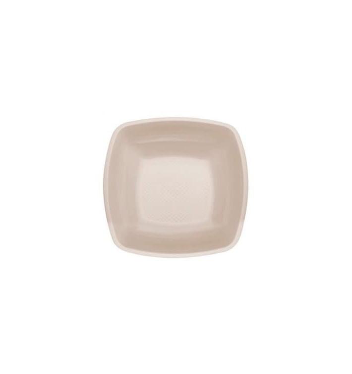 Plastikteller Tiefe Beige Square PP 180mm (300 Stück)