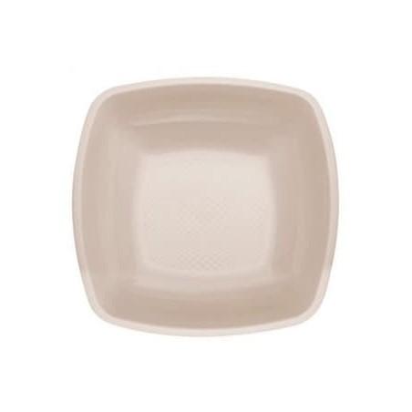Plastikteller Tiefe Beige Square PP 180mm (150 Stück)