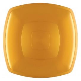 Plastikteller Flach Gold Square PS 300mm (144  Stück)
