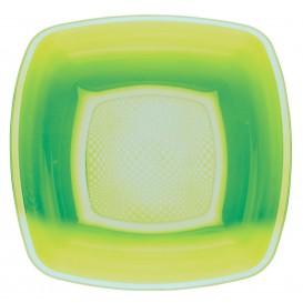 Plastikteller Tiefe Grasgrün Square PP 180mm (300 Stück)