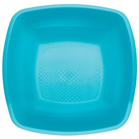Plastikteller Tiefe Turkis Square PP 180mm (25 Stück)