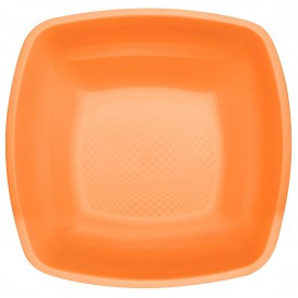 Plastikteller Tiefe Orange Square PP 180mm (300 Stück)