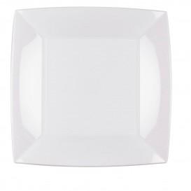 Plastikteller Flach Quadratisch Silber 230mm(150 Stück)
